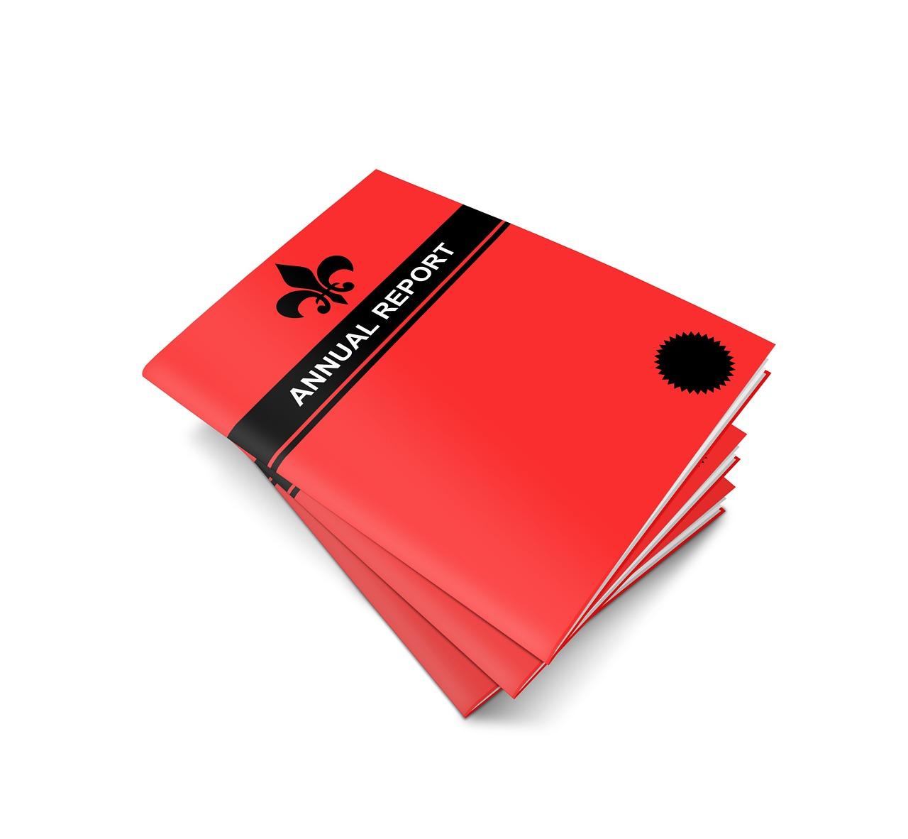 annual, report, book